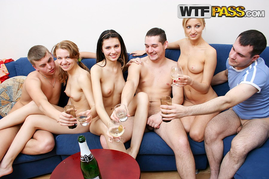hot college orgy Dana and Janet attend to wild college orgy and smash their cunts.