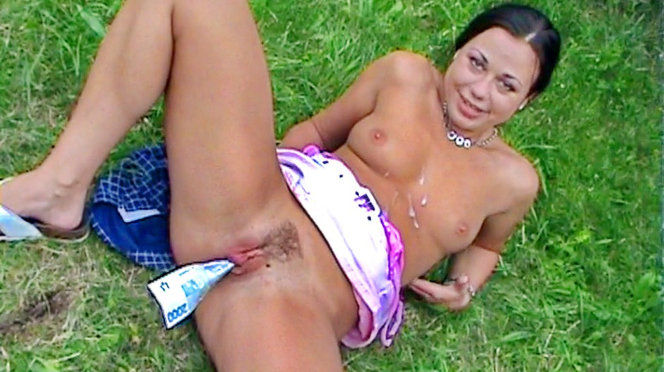 Brunette goes for hot sex in the park adult gallery PickupFuck