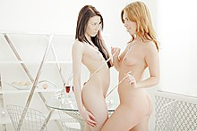 Hot babes play vibrator over each other